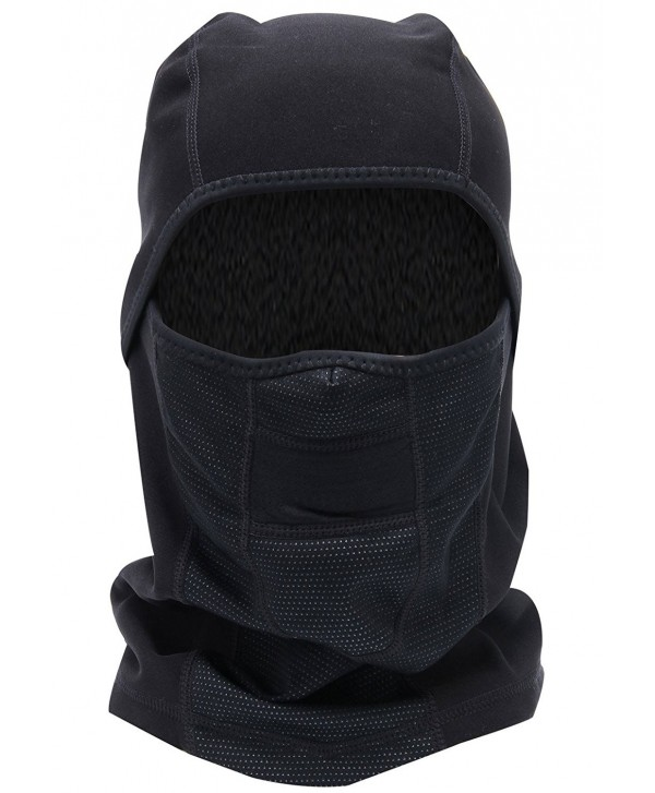 Mailudeng Winter Windproof Ski Gear Dust Protection Full Face Mask Warm Neck Gaiter - Black 1 - C6187AK6GU9