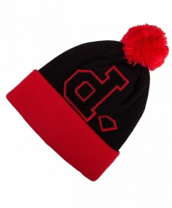 Diamond Supply Co UN-POLO POM Red Black One Size Cap Knit Beanie - C211HWJO29J