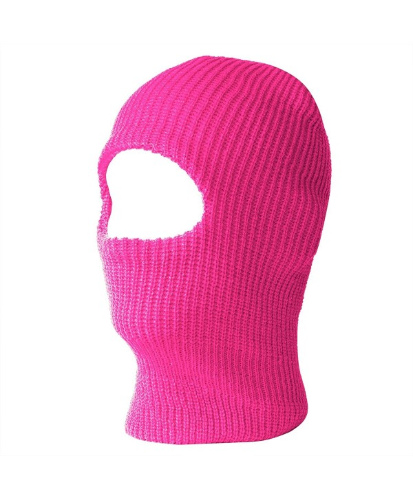 One Hole Ski Mask (Solids & Neon Available)- Hot Pink - C7119UKQJUD