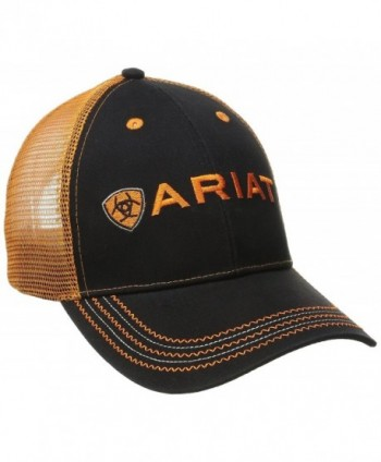 Ariat Men's Black Orange Mesh Hat - Orange - CT11Q4Z35DL