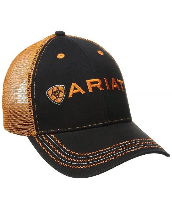 Ariat Men's Black Orange Mesh Hat - Orange - CT11Q4Z35DL