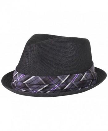 Cubavera Men's Toyo Black Paper Fedora Hat - Black - C811CN3747V