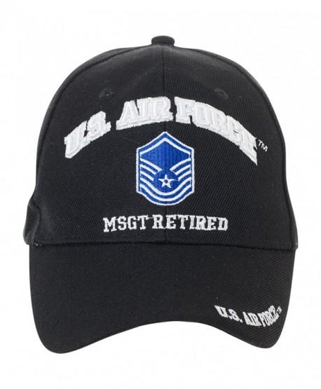 Artisan Owl Officially Licensed US Air Force Retired Baseball Cap - Multiple Ranks! - Master Sergeant - CN1854M3RON
