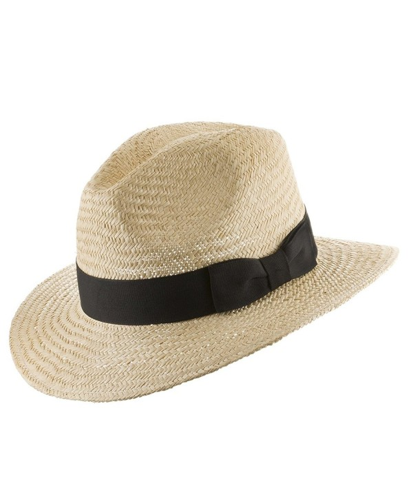 Ultrafino Casual Safari Jack Panama Outdoors Natural Straw Hat - Natural - CI11XZNHRVV