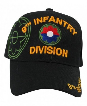 US Warriors U.S. Army 9th Infantry Division Baseball Hat One Size Black - CZ11KFJVU9X