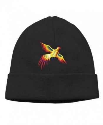 Moonmoon Unisex Pheasant Bird Fowl Flying Retro Classic Fashion Daily Beanie Hat Skull Cap - Black - CH188SY6348
