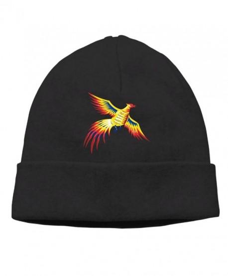 Moonmoon Unisex Pheasant Bird Fowl Flying Retro Classic Fashion Daily Beanie Hat Skull Cap - Black - CH188SY6348