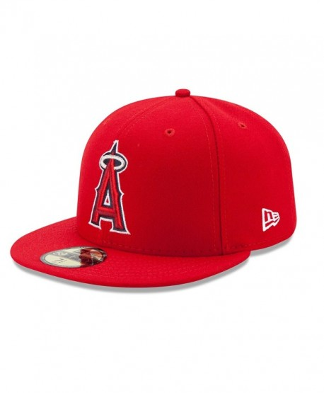 New Era 59FIFTY Los Angeles Angels Of Anaheim MLB 2017 Authentic Collection On Field Game Cap - Red - CJ12O63CIXW