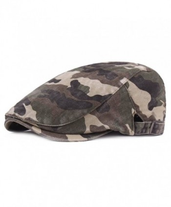 RICHTOER Camouflage Beret Cap Cotton newsboy Cap Beret Men Women Flat Caps Outdoors - Color 1 - CJ188KMROCA