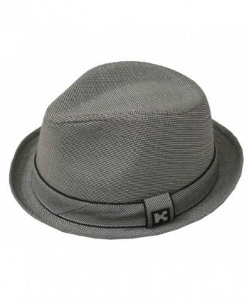 K Men's Upturn Cotton Fedora Gray - CA126M5C9BB