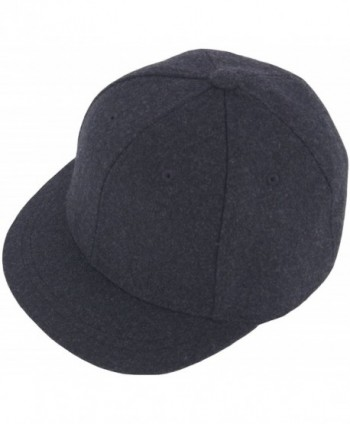 RaOn H100 Unisex Wool Basic Short Bill Cute HipHop Ball Cap Bill Snapback Flat Hat - Darkgray - C212N3AGHFY