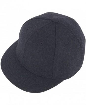 RaOn H100 Unisex Wool Basic Short Bill Cute HipHop Ball Cap Bill Snapback Flat Hat - Darkgray - C212N3AGHFY