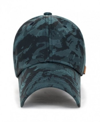 ililily Camouflage Leather Strapback Baseball