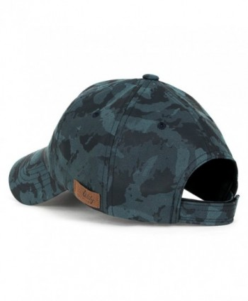 ililily Camouflage Leather Strapback Baseball in Men's Baseball Caps