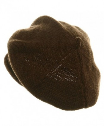 New Rasta Beanie Hat Brown