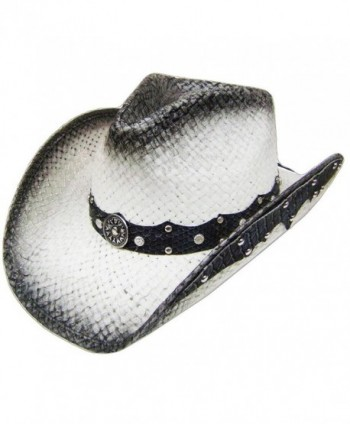 Modestone Straw Cowboy Leather Like Appliques