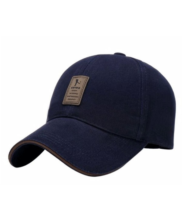 Cotton Hats Twill Low Solid Profile Plain Adjustable Baseball Caps - A-dark Blue - CK12MYBJTUA