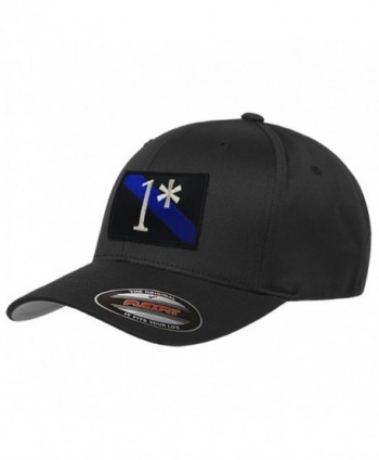 1 Asterisk Thin Blue Line Flexfit Hat - CN183L245OS