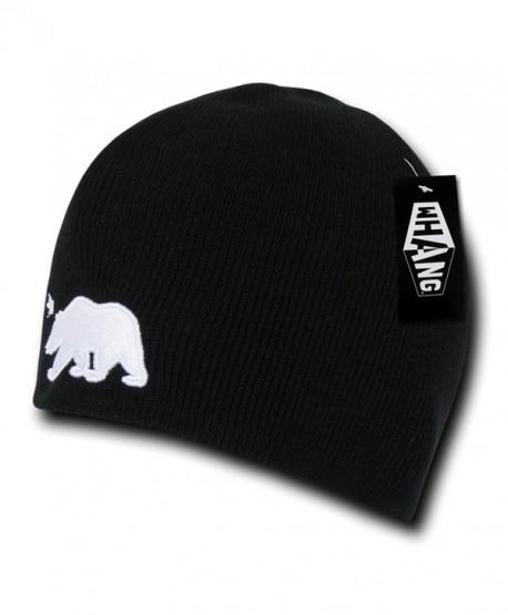 WHANG Cali Bear Short Beanies (One Size- Black) - CN11GO9LPN9