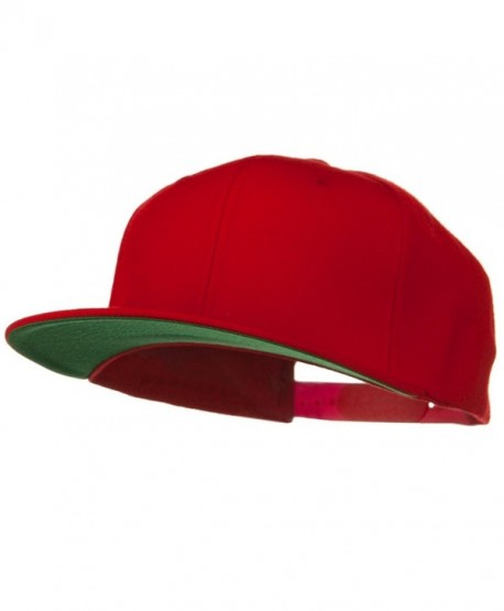 Wool Blend Prostyle Snapback Cap - Red - CE118E486KH