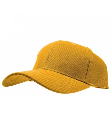 Enimay Baseball Hat Solid Plain & Two Tone Cap Curved Bill Adjustable Outdoor Sport Hat - Plain Mustard - CB17YI0ZL44