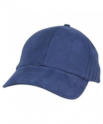DALIX Unisex Fine Brushed Cotton Cap Adjustable Hat with 6 Panels - Structured - Navy Blue - CO1195131E9