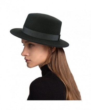 Deevoov Women Wool Felt Flat Top Hat Party Church Bowknot Derby Trilby Hats - C1182YGWEZT