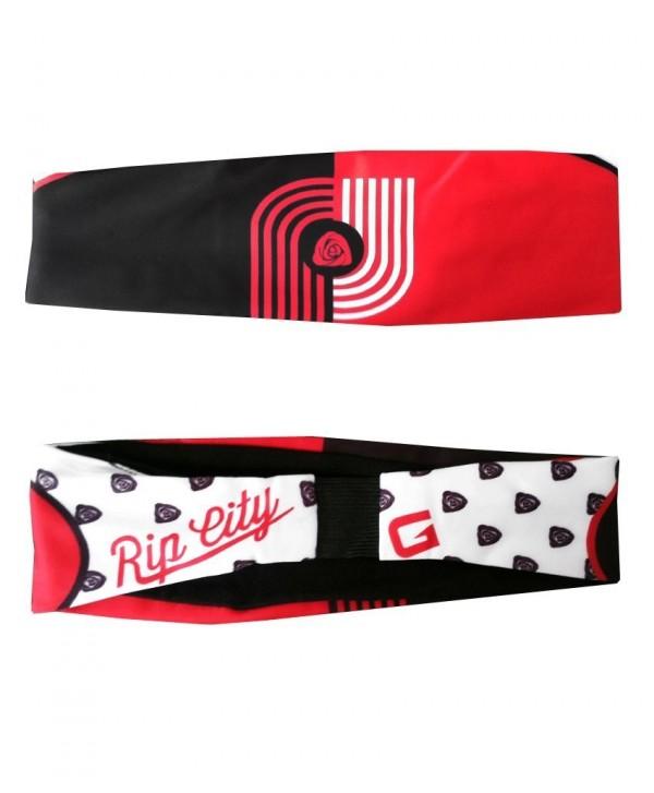 G206 Wear Portland Rip City Athletic Headbands - Red - CE11L8NE5I3