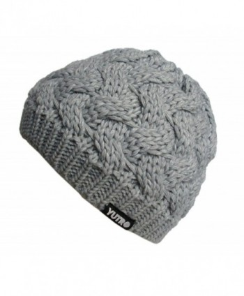 YUTRO Fashion Women's Winter Classic Cable Wool Knitted Beanie Hat - Grey - CR11US892PZ