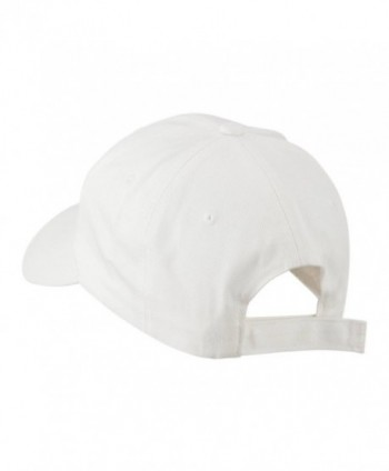 Smiley Face Embroidered Cap White