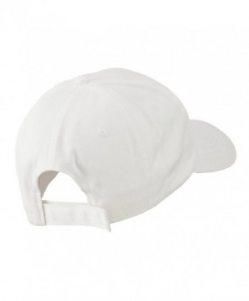Smiley Face Embroidered Cap White in Men's Baseball Caps