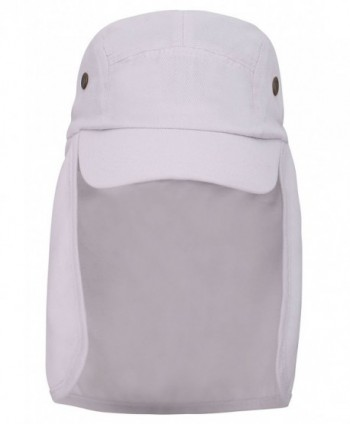 Simplicity Safari / Outback Style Long Earflap Wide Brim Sun Protection Hat - White - CW11N4X3GIZ