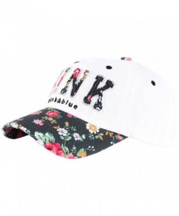 RaOn B82 Sexy Women Girl Flower Pink Cute Lady Design Ball Cap Baseball Hat Truckers - White-black - C112N4S4LQS