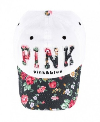 8f29ce0bf2 RaOn B82 Sexy Women Girl Flower Pink Cute Lady Design Ball Cap Baseball Hat  Truckers -; Flower Design Baseball Truckers White Black ...