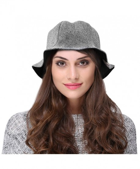 32b54d40bb4 VBIGER Women Winter Hat Warm Woolen Hat Fashion Cute Bucket Hat - Grey -  CM1870Z28UW