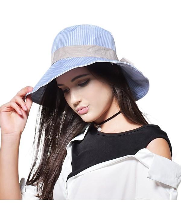 Womens Summer Beach Sun Hats - B-light Blue - CU17AARK5U0