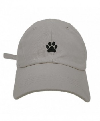 TheMonsta Dog Paw Style Dad Hat Washed Cotton Polo Baseball Cap - Lt.Grey - C6188OIGG5E