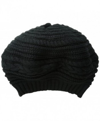 Scala Women's Textured Slouch Beret - Black - C811XN09HBT