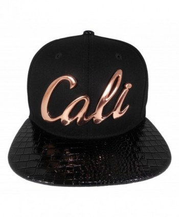 Cap2shoes Men's Cali Metal Snapback One Size Black - Black / Bronze - CR121R17VAD