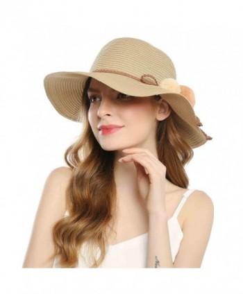 Welrog Foldable Straw Summer Hats
