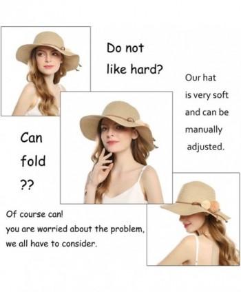Welrog Foldable Straw Summer Hats in Women's Sun Hats