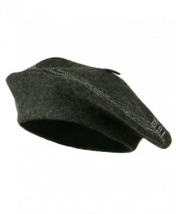 Stone Lined Wool Beret - Grey W09S51C - C3110A3VKF7