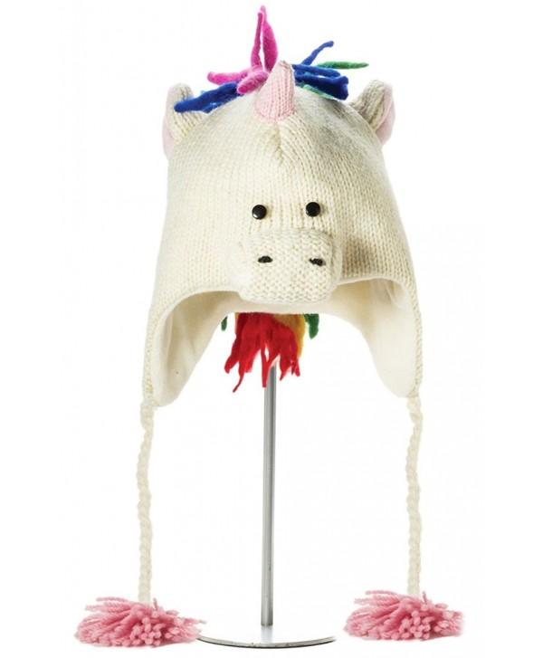 Knit Wits Winter Kids Unicorn Wool Fleece Lined Hat Boys- Girls - C111GOTFB0H