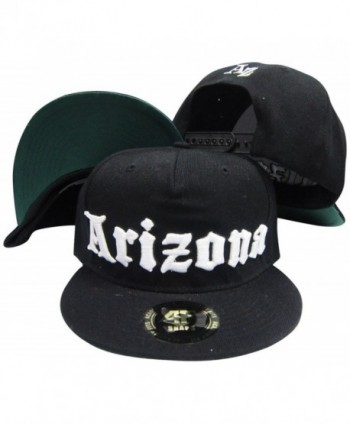 Arizona Old English Black Adjustable Snapback Hat / Cap - CW119AUAHB3