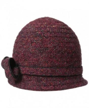 Betmar Women's Ella Cloche Hat - Bordeaux/Multi - C7116HNVFWX