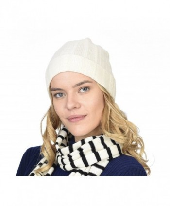 8b43a81cd3b05 100% Pure Cashmere Cable Knit Beanie Hat - Ultimate Soft-Warm and ...