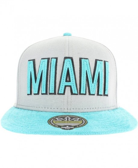 Snapback Laser Cut Collection MIAMI- ORLANDO- KEY WEST- DAYTONA - Miami - Teal - CM12I73F3WD