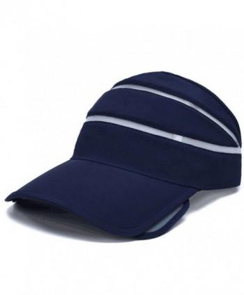 Flyou Adjustable Visor Sun Hat Sports Cap Golf Tennis Beach Summer hats - Navy - C11827R3CZX