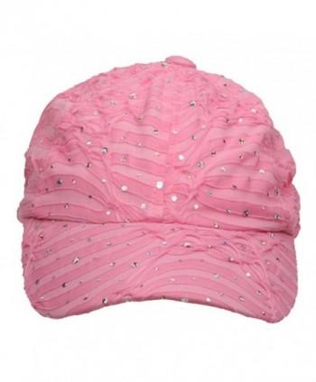 SS Sophia Glitter Caps Pink OSFM