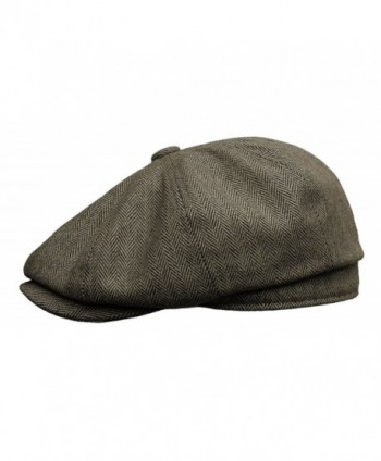 Rooster Herringbone newsboy Driving X Large in Men's Newsboy Caps